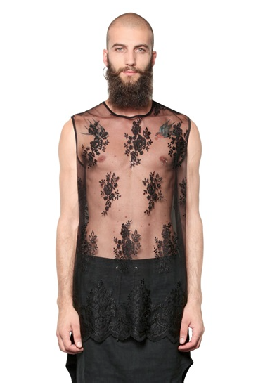 Lace Menswear at fashion ecommerce site Lyst