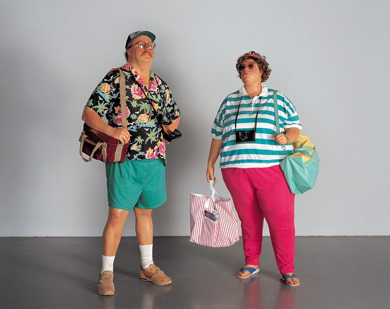 Tourists II, 1988, Duane Hanson.