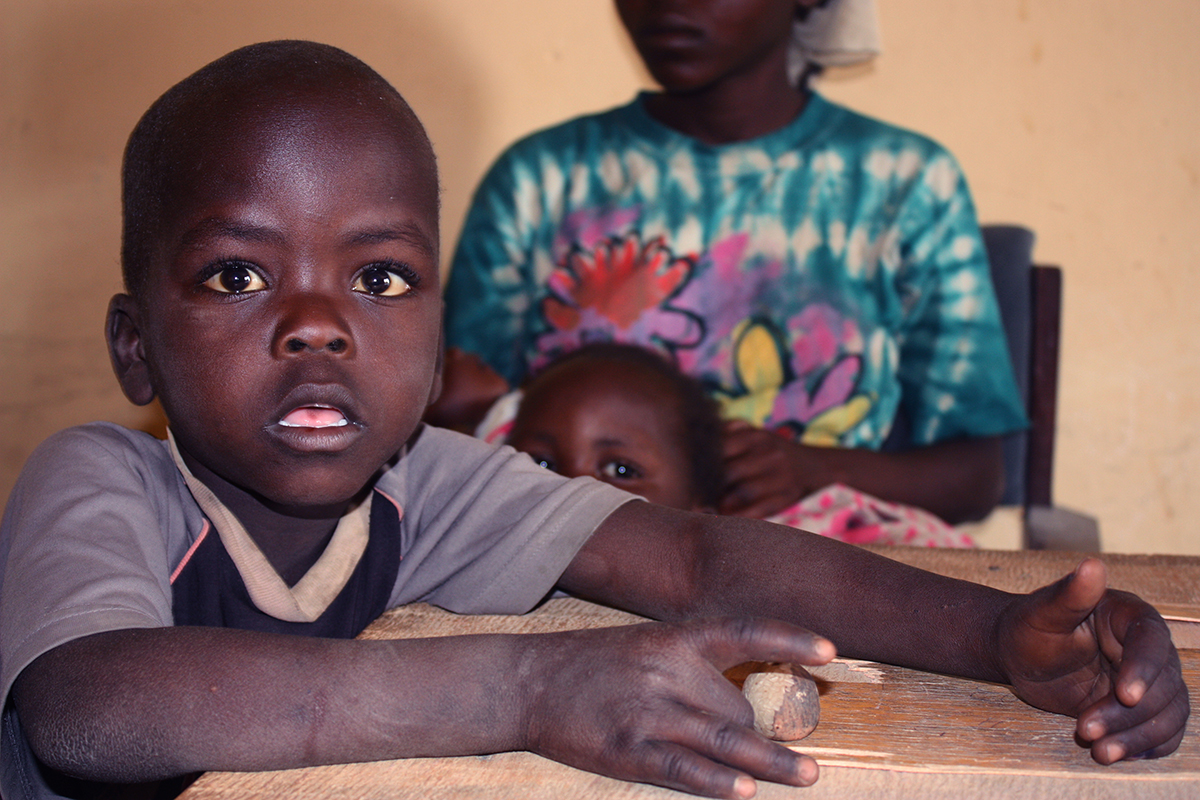 Moses Luka, 5, was orphaned after Boko Haram fighters killed his parents in December. Now, he lives in a refugee camp with his aunt in Yola, northeastern Nigeria. January 17, 2015. Photo by Chika Oduah