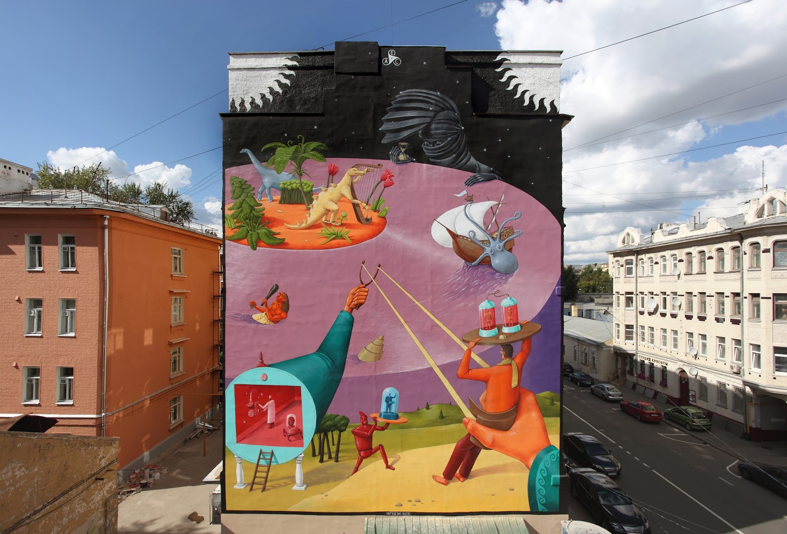 time-machine street art kiev